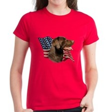Chocolate Lab Flag Tee