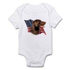 Chocolate Lab Flag Onesie