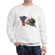 Lhasa Apso Flag Sweatshirt