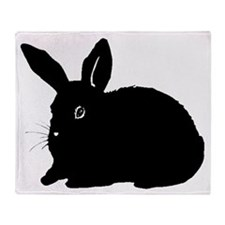 Bunny Silhouette Throw Blanket