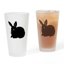 Bunny Silhouette Drinking Glass