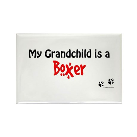 Boxer Grandchild Rectangle Magnet