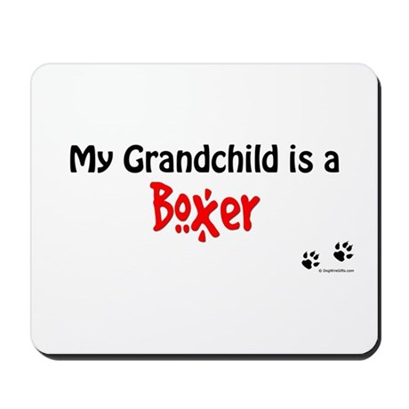 Boxer Grandchild Mousepad