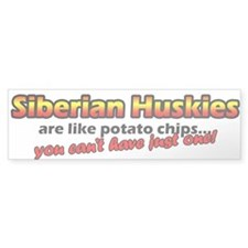 Potato Chips Siberian Husky Bumper Bumper Sticker