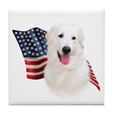 Kuvasz Flag Tile Coaster