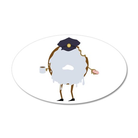 Cop Donut Wall Decal