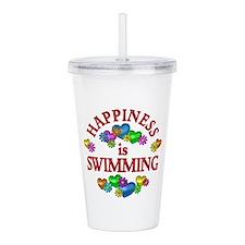 Happiness is Swimming Acrylic Double-wall Tumbler