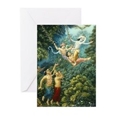 Forest Pastimes Greeting Cards (pk Of 10)