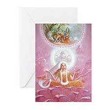 Gayatri Devi Greeting Cards (pk Of 10)