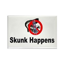 Skunk Happens Rectangle Magnet