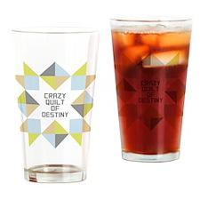 Crazy Quilt of Destiny Drinking Glass