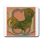 Polish Rooster Mousepad