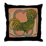Polish Rooster Throw Pillow