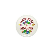 Happiness is Singing Mini Button (10 pack)