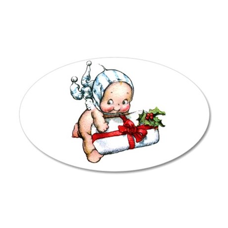 cupie brings a christmas 20x12 Oval Wall Decal