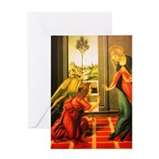 Annunciation St Gabriel And Virgin Greeting Cards