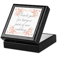 Wedding party gifts Keepsake Box