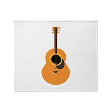 Musical Guitar Throw Blanket