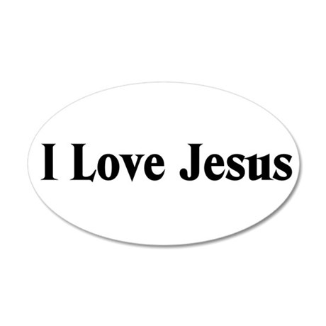 I Love Jesus 35x21 Oval Wall Decal