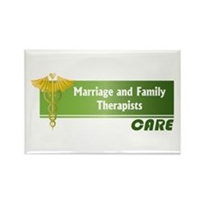 Marriage and Family Therapists Care Rectangle Magn