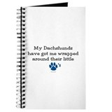 Wrapped Around Their Paws (Dachshund) Journal
