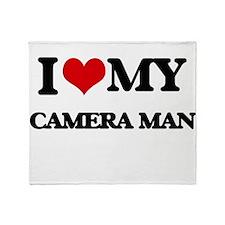 I love my Camera Man Throw Blanket