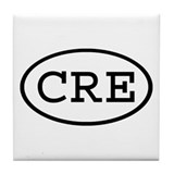 CRE Oval Tile Coaster