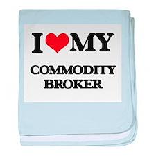 I love my Commodity Broker baby blanket
