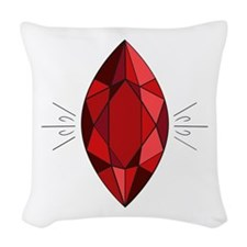 Ruby Woven Throw Pillow