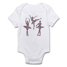 Geometric Pattern Ballerinas Infant Bodysuit