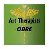 Art Therapists Care Tile Coaster