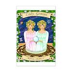 Lady Gemini Mini Poster Print