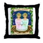 Lady Gemini Throw Pillow