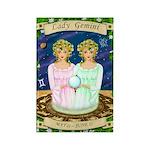 Lady Gemini Rectangle Magnet