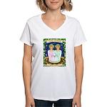 Lady Gemini Women's V-Neck T-Shirt