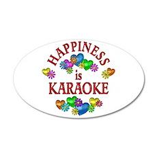 Happiness is Karaoke 35x21 Oval Wall Decal