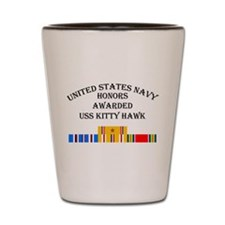 USS Kitty hawk Shot Glass