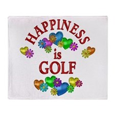 Happiness is Golf Throw Blanket