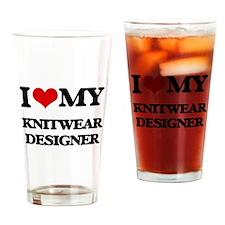 I love my Knitwear Designer Drinking Glass