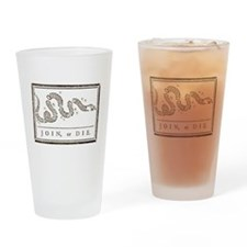 Join or Die Right Wing Extremist Drinking Glass