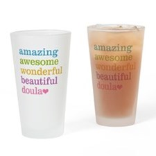 Amazing Doula Drinking Glass