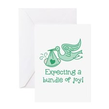 Expecting a Bundle of Joy Greeting Cards