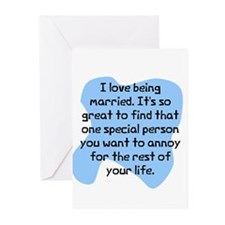 Love being married Greeting Cards (Pk of 10)