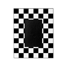 BLACK AND WHITE Checkered Pattern Picture Frame
