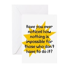 Nothing is impossible Greeting Cards (Pk of 10