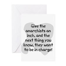 Give anarchists inch Greeting Cards (Pk of 10)