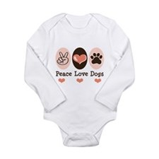 Cute Mixed breed Long Sleeve Infant Bodysuit
