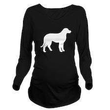 Chesapeake Bay Retriever Silhouette Long Sleeve Maternity T-Shirt
