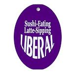 Sushi-Eating Latte Liberal Ornament