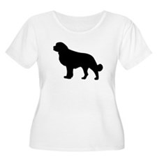 Newfoundland Silhouette Plus Size T-Shirt